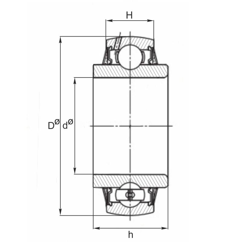 Rodamiento para gradas interior cilíndrico